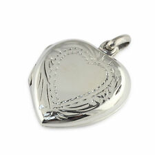 Womens Solid 925 Sterling Silver Opens Photo Locket  Heart Love 23mm Pendant