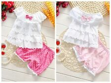 Baby clothes infant baby girls clothing 2-piece summer clothes layered top&pants