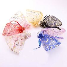 25/50/100pcs 7cmx9cm White Organza Jewelry Gift Pouch Bags Wedding X-mas Favor