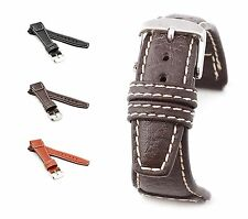 """RIOS1931 Buffalo Leather Watch Band """"Nature"""", 18-22 mm, 3 colors, new!"""