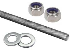 M8 THREADED ROD BAR ZINC PLATED STUDDING FULLY THREADED MILD STEEL (VALUE PACK)