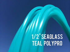 "Seaglass Teal 1/2"" Polypro Dance Exercise Hula Hoop COLLAPSIBLE arm hoops"