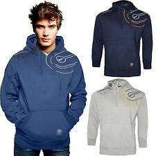 Mens Crosshatch 'Gazeout' Hoodie Jumper Sweatshirt Top Fleece Printed Pullover