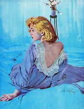 Vintage Fashion Breakup by Coby Whitmore Painting Print on Wrapped Canvas