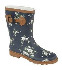 Ladies Northwest Territory Short Floral / Flower Print Wellies Wellington Boots