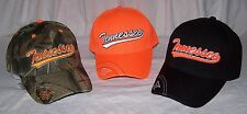 Men's TENNESSEE VOLUNTEERS Baseball Cap Hat One Size Velcro YOU PICK Orange Camo