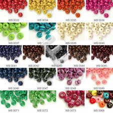 810pcs Approx Rondelle Wooden Spacer Loose Beads 3x6mm Jewelry Making 30g