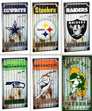Choose Your NFL Team Aged Distressed Corrugated Metal Wall Art Sign by TSA