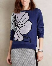ANTHROPOLOGIE Monogram Exploded Floral Malvales Pullover Sweater NwT M L XL