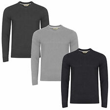 Mens V-Neck Jumper by Tokyo Laundry Knitted Sweater Pullover Cotton Casual S-XXL