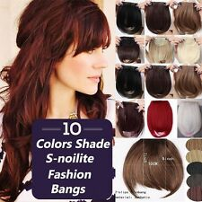 100% Real Soft Clip in on Bangs Fringe Hair Extensions Straight One Piece fc6