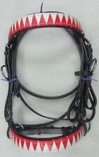 Shubh Genuine Horse Leather Cross Over Bitless Bridle with Reins BB- 1B