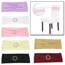 50PCS Hotel Decor Elastic Spandex Dining Chair Cover Sashes Chair Bands K6Y5