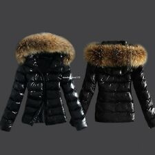 Women Winter Fashion Hooded Zip-up Slim Thick Quilted Jacket Coat Outerwear