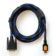 HDMI to DVI-D Male to Male Gold Adapter Cable HDTV Cord for LCD DVD HDTV XBOX