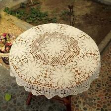 31-39 Inch Round Cotton Handmade Crochet Lace Tablecloth Doilies I03- 2 Colors
