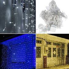 300 LED 3Mx3M String Curtain Fairy Lights Christmas Party Wedding Outdoor Decor