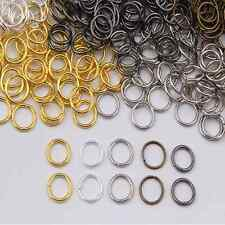 Wholesale Silver/Gold/Bronze/white/gunback Plated Open Jump Rings 4/5/6/7/8/ 9mm
