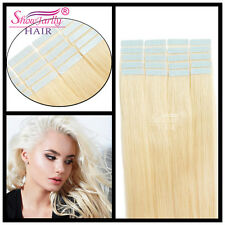 100% Human Hair 3M Tape-in  Extensions Seamless Skin 20 Pcs Lightest blonde #613