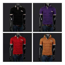 New Fashion Mens Slim Fit Stylish POLO Shirt Short Sleeve Casual T-shirts Tee