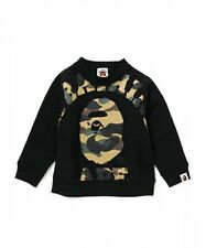A BATHING APE 1ST CAMO BIG COLLEGE CREWNECK BAPE Kids Tops Sweatshirt From Japan