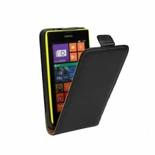 Genuine Real Leather Magnetic Vertical Flip Cover Pouch Case For Nokia Lumia 630