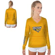 Towson University Tigers Womens Long Sleeve V-Neck Shirt Kinetic  Design