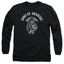 Sons Of Anarchy Soa Reaper Mens Long Sleeve Shirt Black