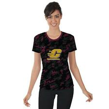 Central Michigan University Chippewas Womens Short Sleeve Shirt Camo  Design