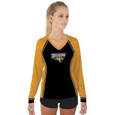 Towson University Tigers Womens Long Sleeve V-Neck Shirt Edge  Design