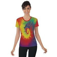 Lincoln University Blue Tigers Womens Short Sleeve Shirt Tie Dye  Design
