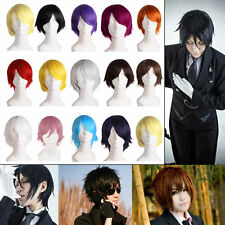 Man Fashion Light Short Straight Hair Wig For Comic Cosplay Party Hot Sell VE