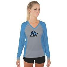 Buffalo SUNY Bulls Womens Long Sleeve V-Neck Shirt Edge  Design