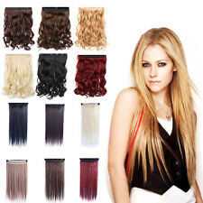 Fashion Women Long Straight Curly Clip In Hair Extension Synthetic Hairpiece Hot
