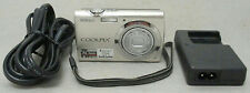 Nikon CoolPix S230 Silver Digital Point & Shoot 10.0 MP Camera Bundle Tested