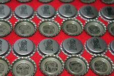 100 FALSTAFF BREWING BEER BOTTLE CAPS SILVER BEER STEIN REBUS PUZZLES UNCRIMPED