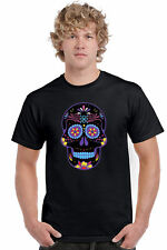 Men's T Shirt Psychedelic Skull Short Sleeve Tee