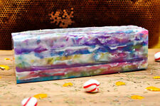 3.5 # Pounds 56 oz Handmade Beautiful Pretty Soap in bulk Full Melt & Pour loaf
