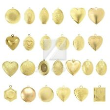 Metal Pendants for Jewelry Making Craft Gold Round/Oval/Heart/Hexagon/Rectangle