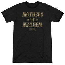 Sons Of Anarchy Mothers Of Mayhem Mens Adult Heather Ringer Shirt Black