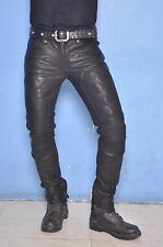 SkinTight quilted leather biker pant jeans sturdy strong leather nice detail 7