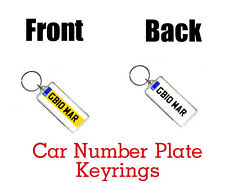PERSONALISED CAR NUMBER PLATE KEYRING BAG TAG -  Great Gifts