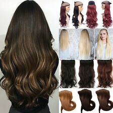 100% Real Thick Full Head Clip in Hair Extensions 5clip Natural Long as Human fr