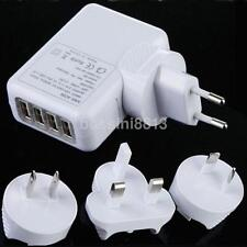 4 USB Port Travel Home Wall Charger AC Adapter US UK EU AU Plug for Smartphone