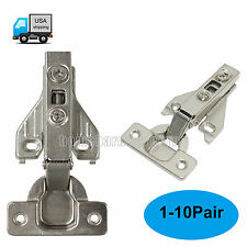 Hidden Soft Closing Face Frame Kitchen Cabinet Hinges Full Overlay Nickel-Plated