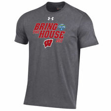 Wisconsin Badgers Under Armour 2017 Cotton Bowl Bound T-Shirt - Gray - NCAA