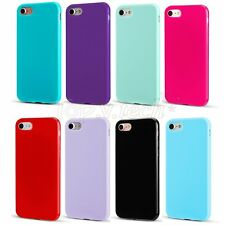 For iPhone 7 Ultra Slim Soft TPU Silicone GEL Rubber  Solid Color Back Case Skin