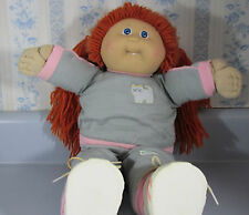 "Vintage Cabbage Patch Kid Kids CPK ""First Tooth"" Girl Doll With Red Hair 1980s"