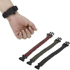3 Colors Outdoor Climbing Rope Bracelet 7 Core Cords With Survival Whistle J5A5