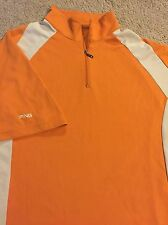Men's PING Collection Size XL Performance Dynamics Golf Polo Shirt Orange RARE